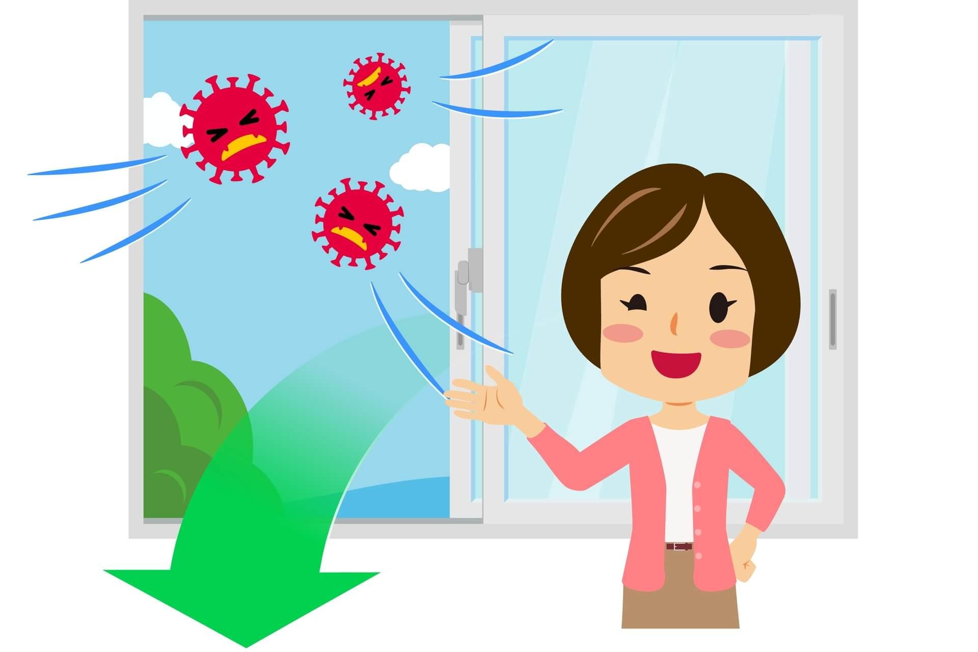 Ricambio d'aria come strategia per ridurre il contagio da virus